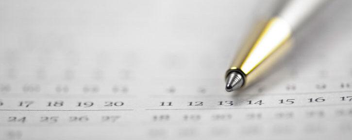 calendar pen